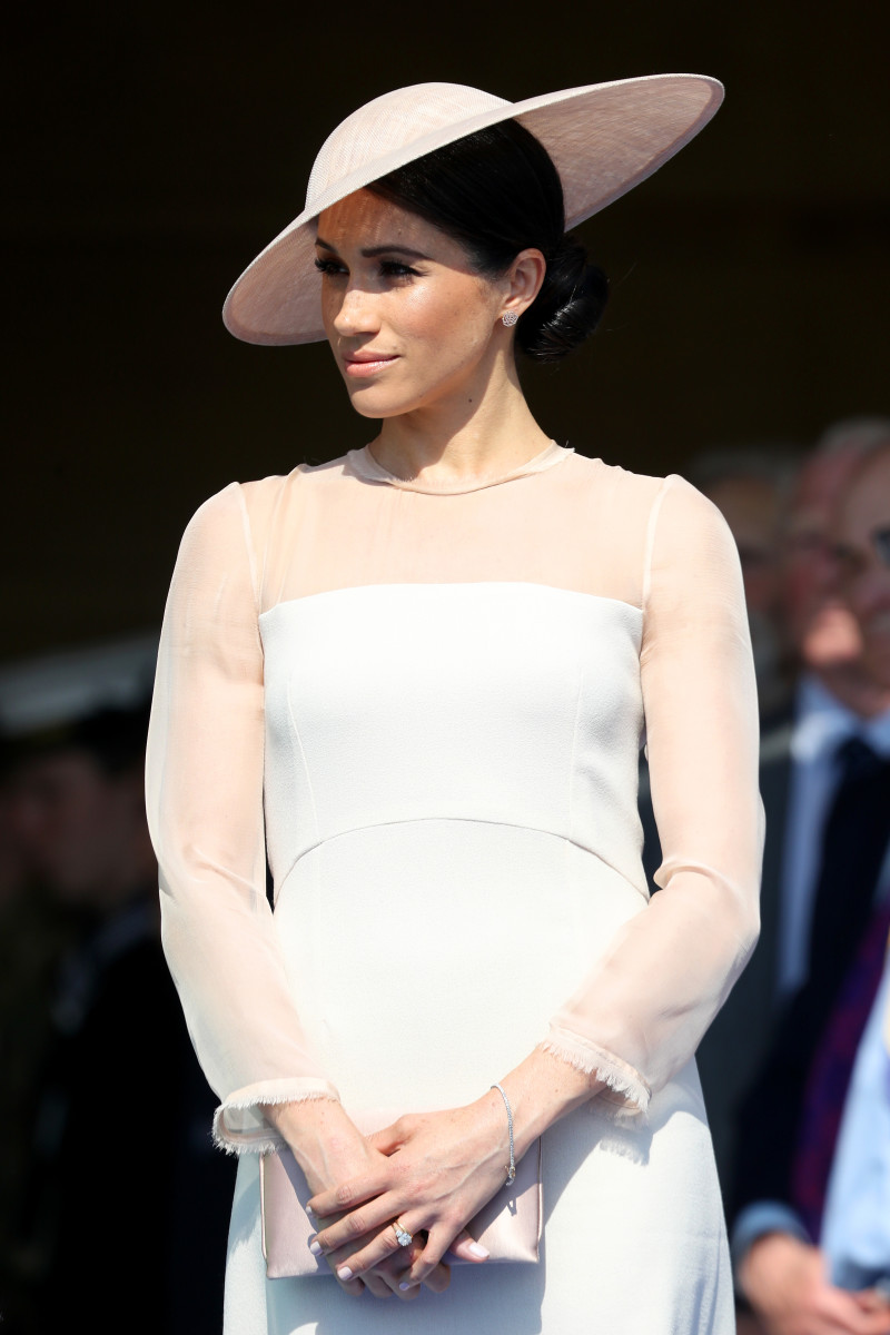 Meghan Markle, aka the Duchess of Sussex in Goat at The Prince of Wales' 70th Birthday Patronage Celebration at Buckingham Palace. Photo: Chris Jackson/Getty Images