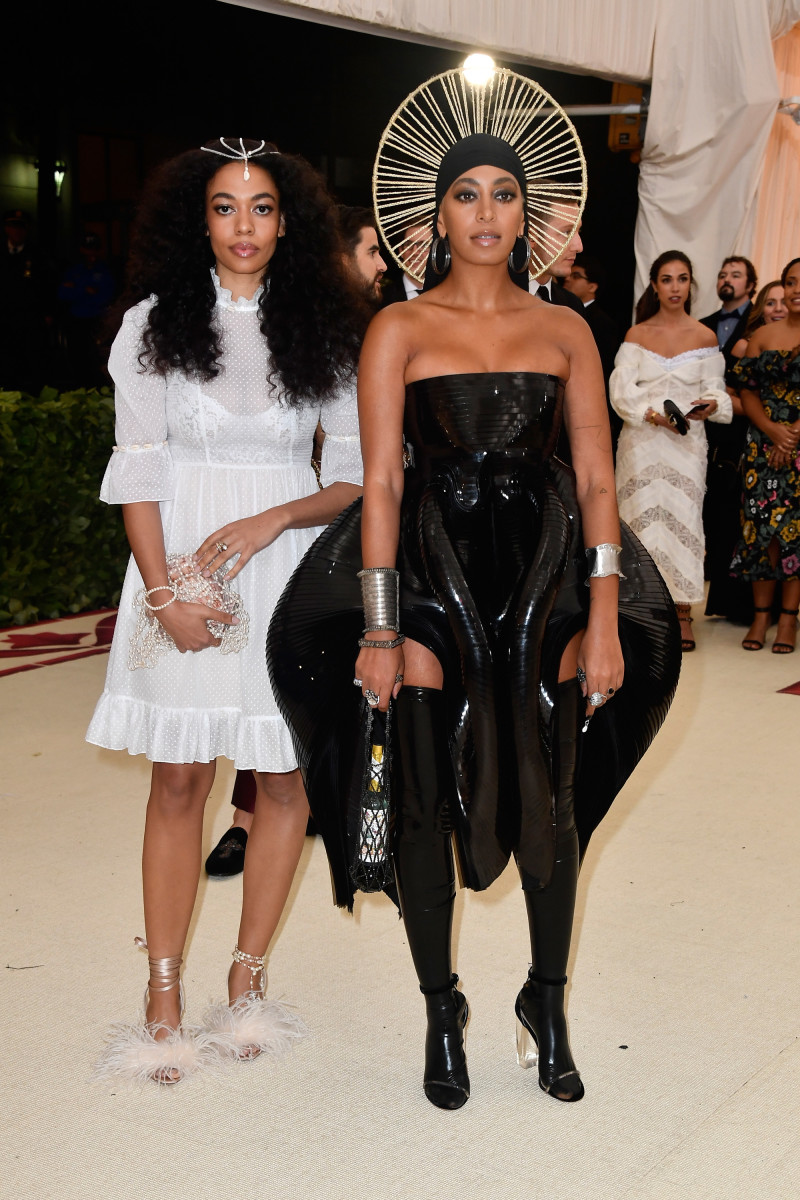 Aurora James at the 2018 Met Gala with Solange Knowles. Photo: Frazer Harrison/FilmMagic