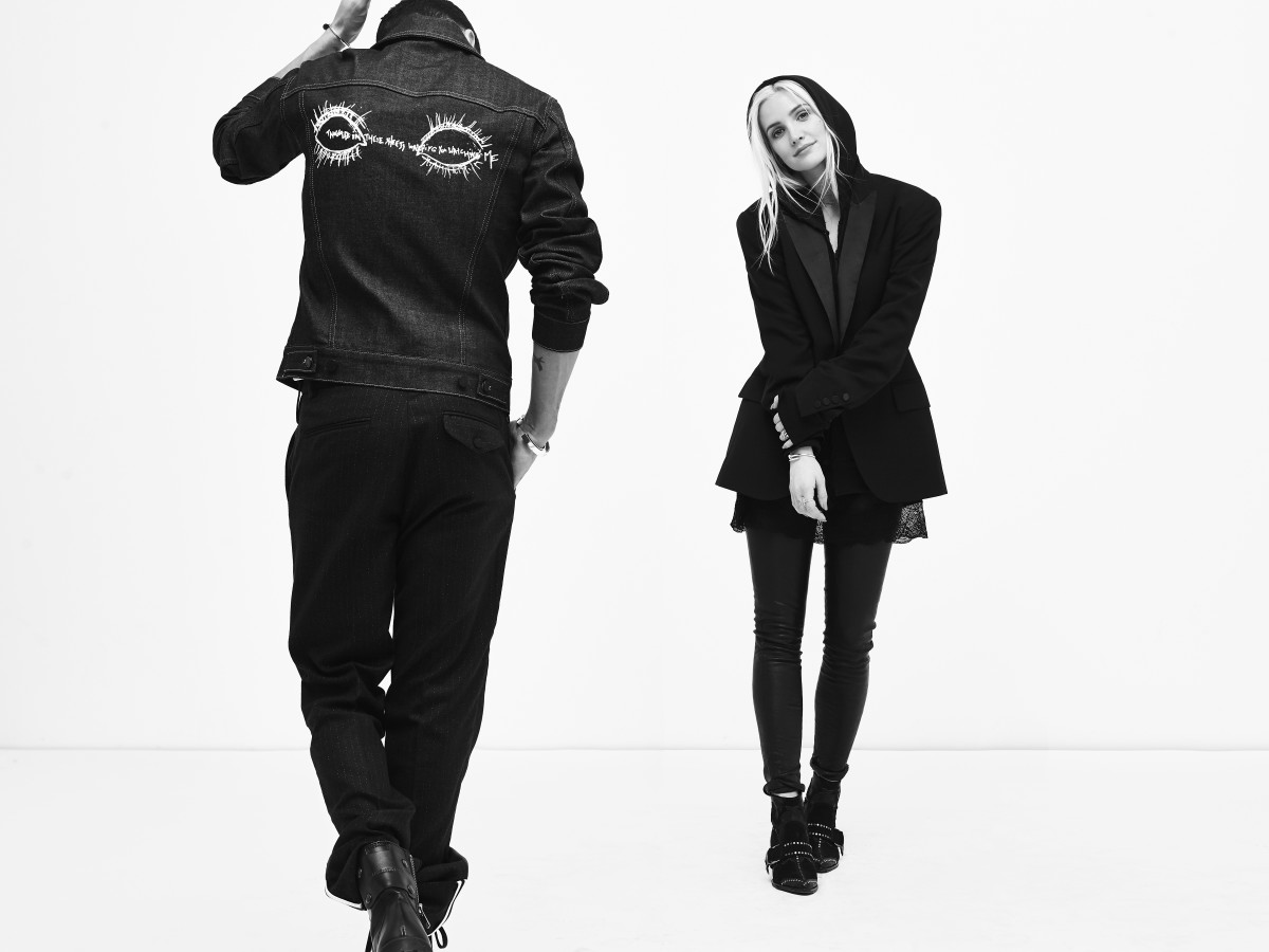 Ashlee Simpson and Evan Ross in Jagger Snow. Photo: Zadig & Voltaire