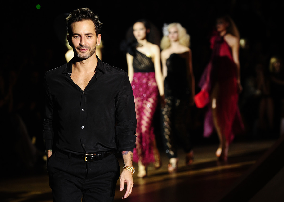 Marc Jacobs at his Marc Jacobs Spring 2011 show. Photo:Emmanuel Dunand /AFP/Getty Images