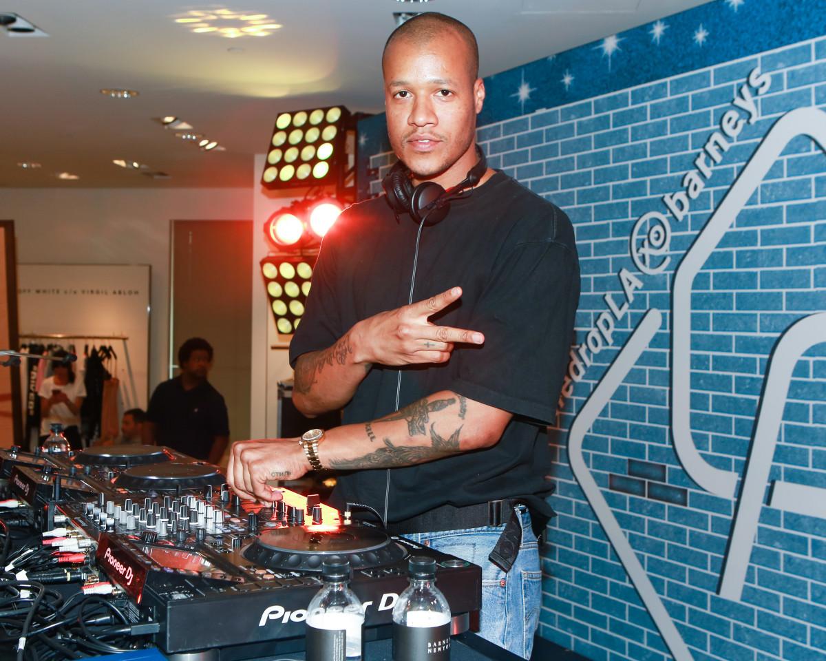 Heron Preston DJing.Photo: BFA for Barneys New York