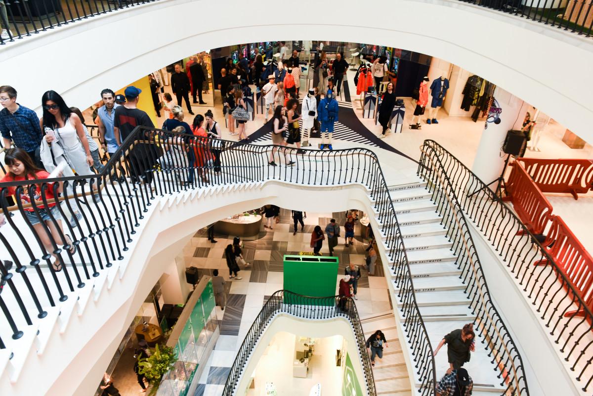 Inside Barneys during The Drop.Photo: BFA for Barneys New York