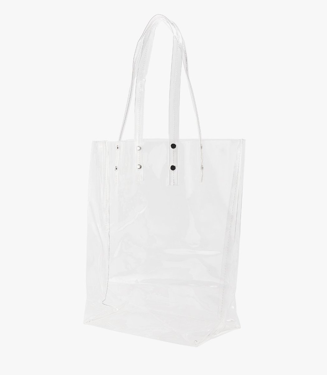 Genuine People Transparent PVC Tote, $60, available here.