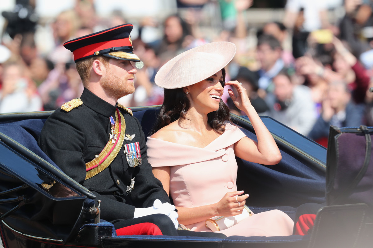 Prince Harry, Duke of Sussex and Meghan, Duchess of Sussex during Trooping The Colour in London, England. Photo: Chris Jackson/Getty Images