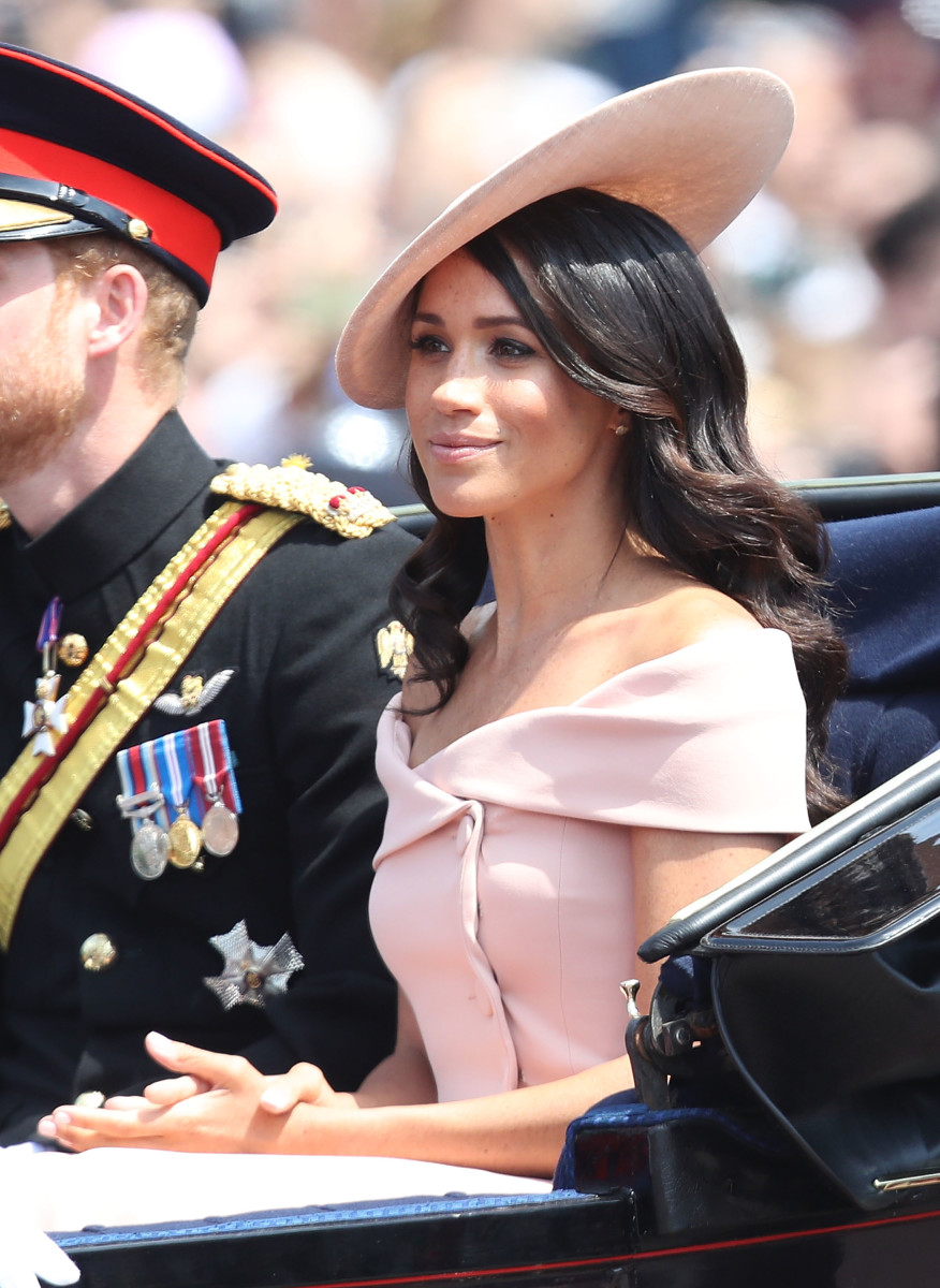Meghan, Duchess of Sussex during Trooping The Colour in London, England. Photo: Chris Jackson/Getty Images