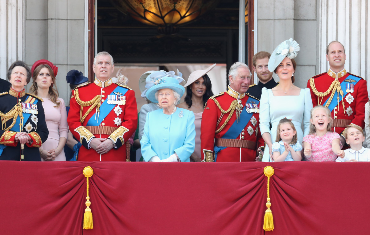 The Royal Family during Trooping The Colour in London, England. Photo: Chris Jackson/Getty Images