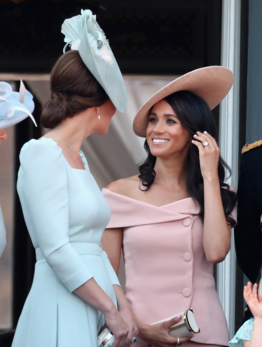 Meghan, Duchess of Sussex and Catherine, Duchess of Cambridge during Trooping The Colour in London. Photo: Chris Jackson/Getty Images