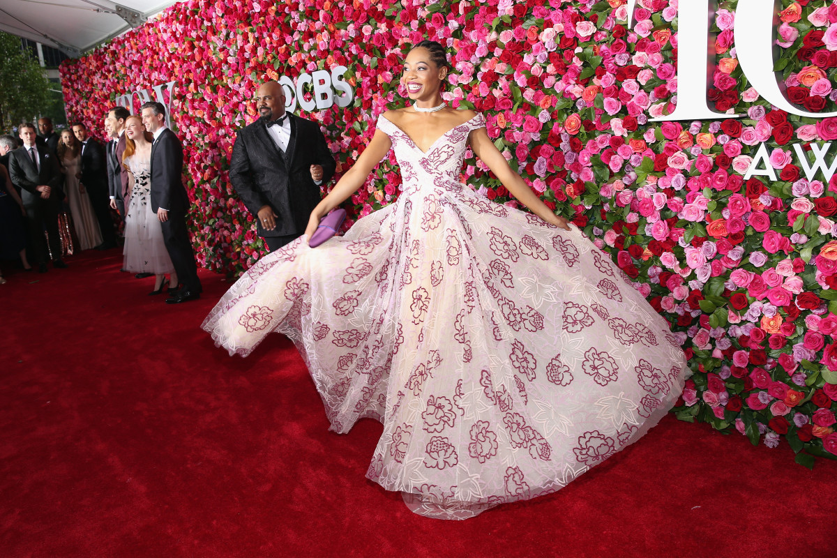 Hailey Kilgore in Zac Posen at the 2018 Tony Awards. Photo: Larry Busacca/Getty Images