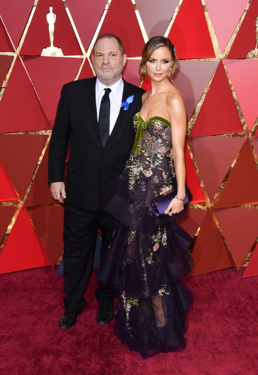 Harvey Weinstein and designer Georgina Chapman at 2017 Academy Awards. Photo: George Pimentel/FilmMagic