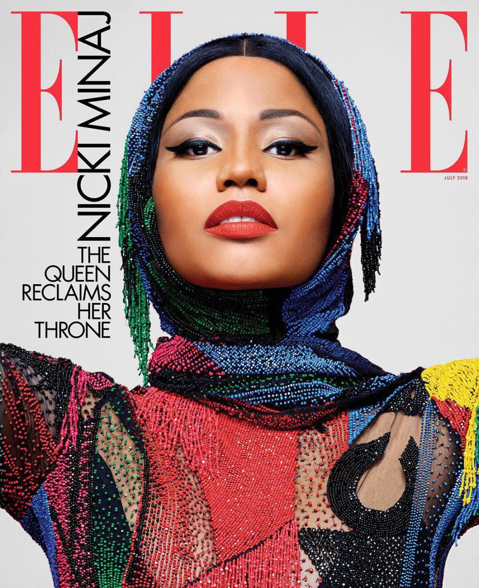 "Nicki Minaj on the July issue of ""Elle."" Photo: Karl Lagerfeld"