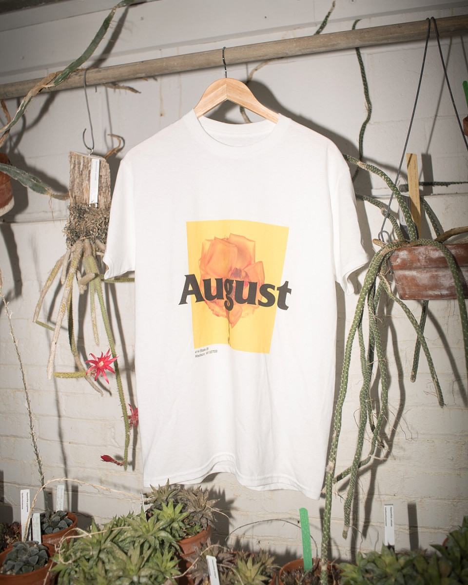 "August's ""Summer'18: tee, which launched in limited quantities in May. Photo: @_augustshop/Instagram"