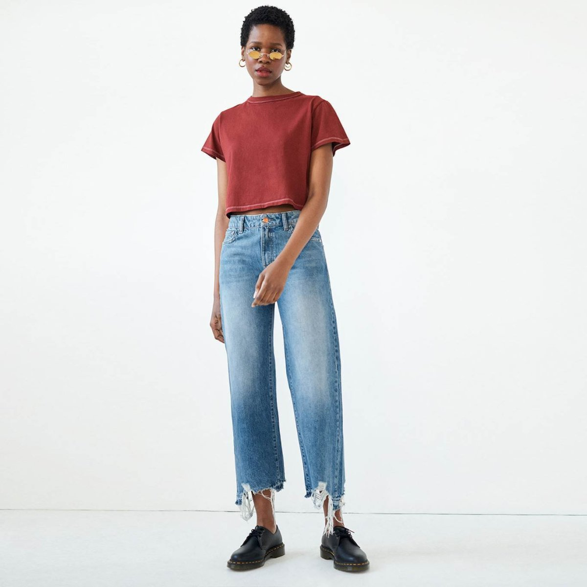 Warp + Weft ICN Wide Leg Jeans in Carolina, $98, available here.