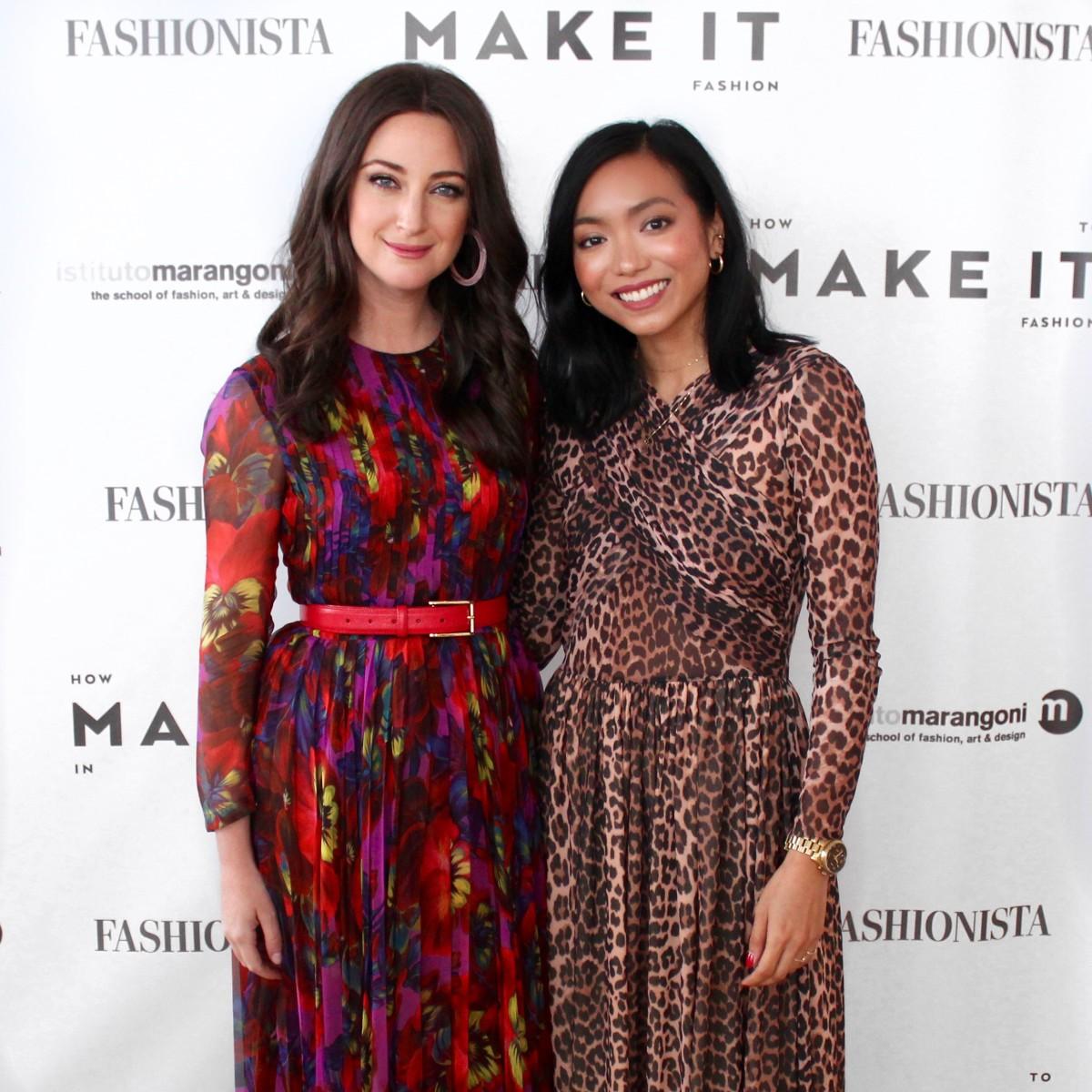 Stylist Micaela Erlanger with Fashionista Associate Editor Maria Bobila. Photo: Tonya Mann