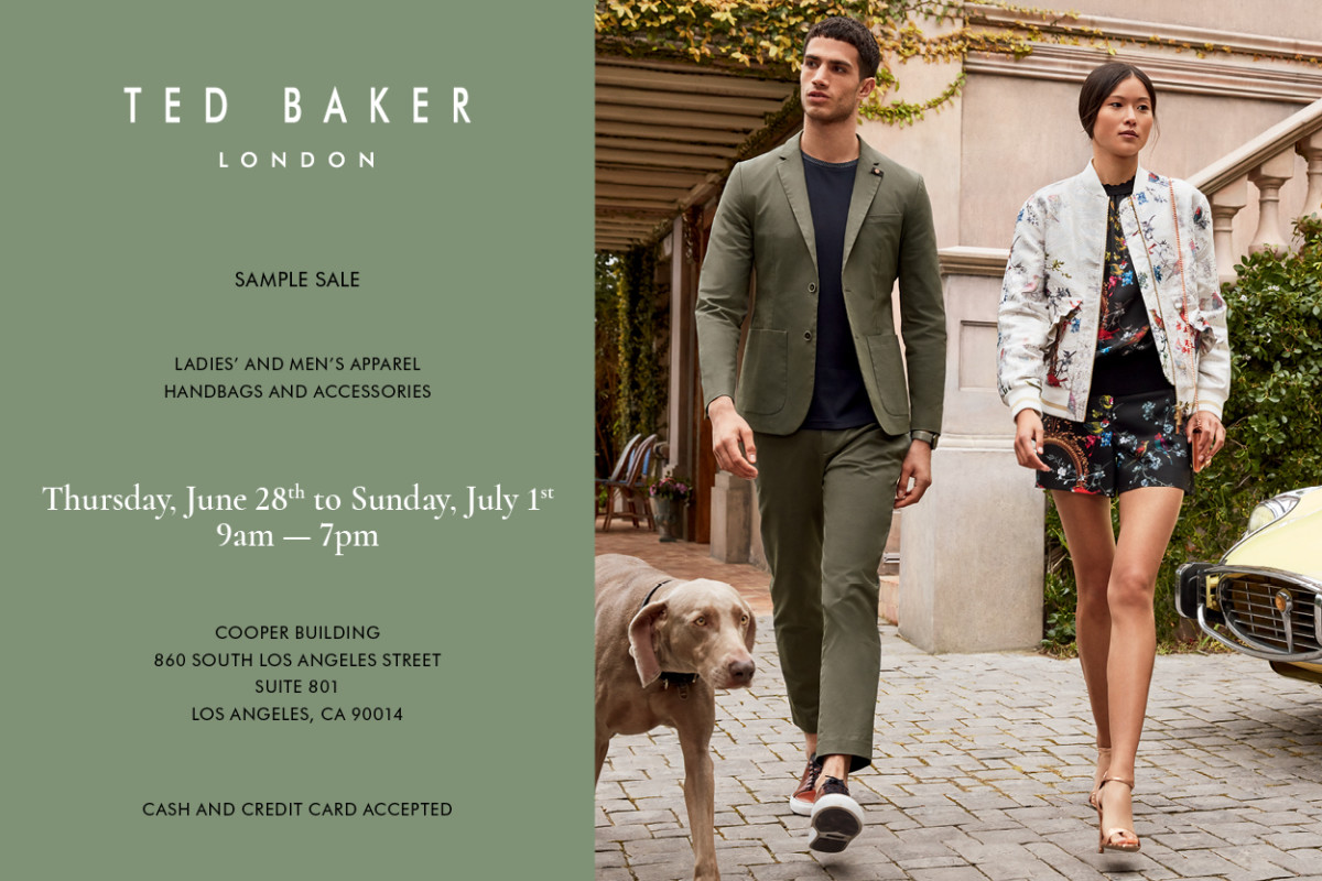 66e73329776d TED BAKER SAMPLE SALE - DON T MISS THE MOST ANTICIPATED DEAL-HAPPY EVENT! -  Fashionista