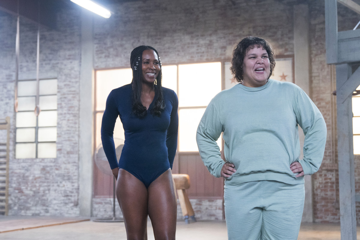 Cherry (Sydelle Noel) and Carmen (Britney Young) at practice. Photo:Erica Parise/Netflix