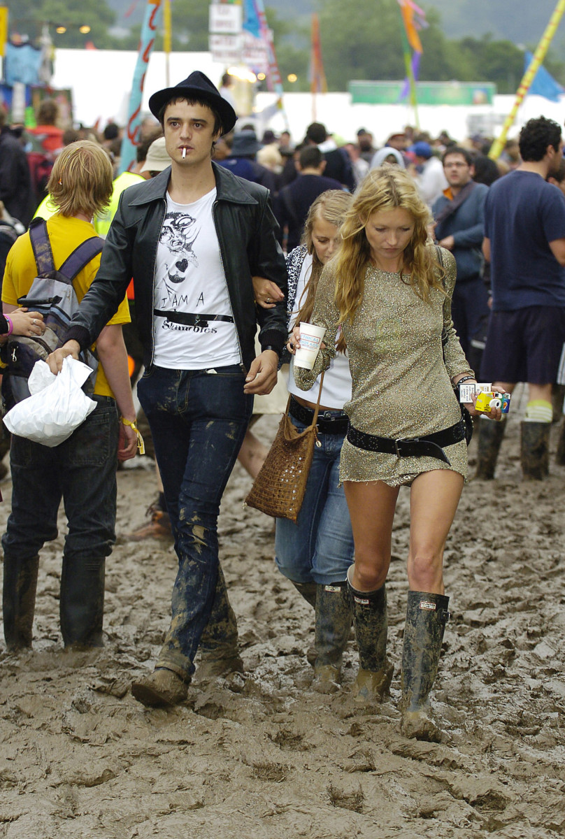 Pete Doherty and Kate Moss at Glasonbury in 2005. Photo: MJ Kim/Getty Images
