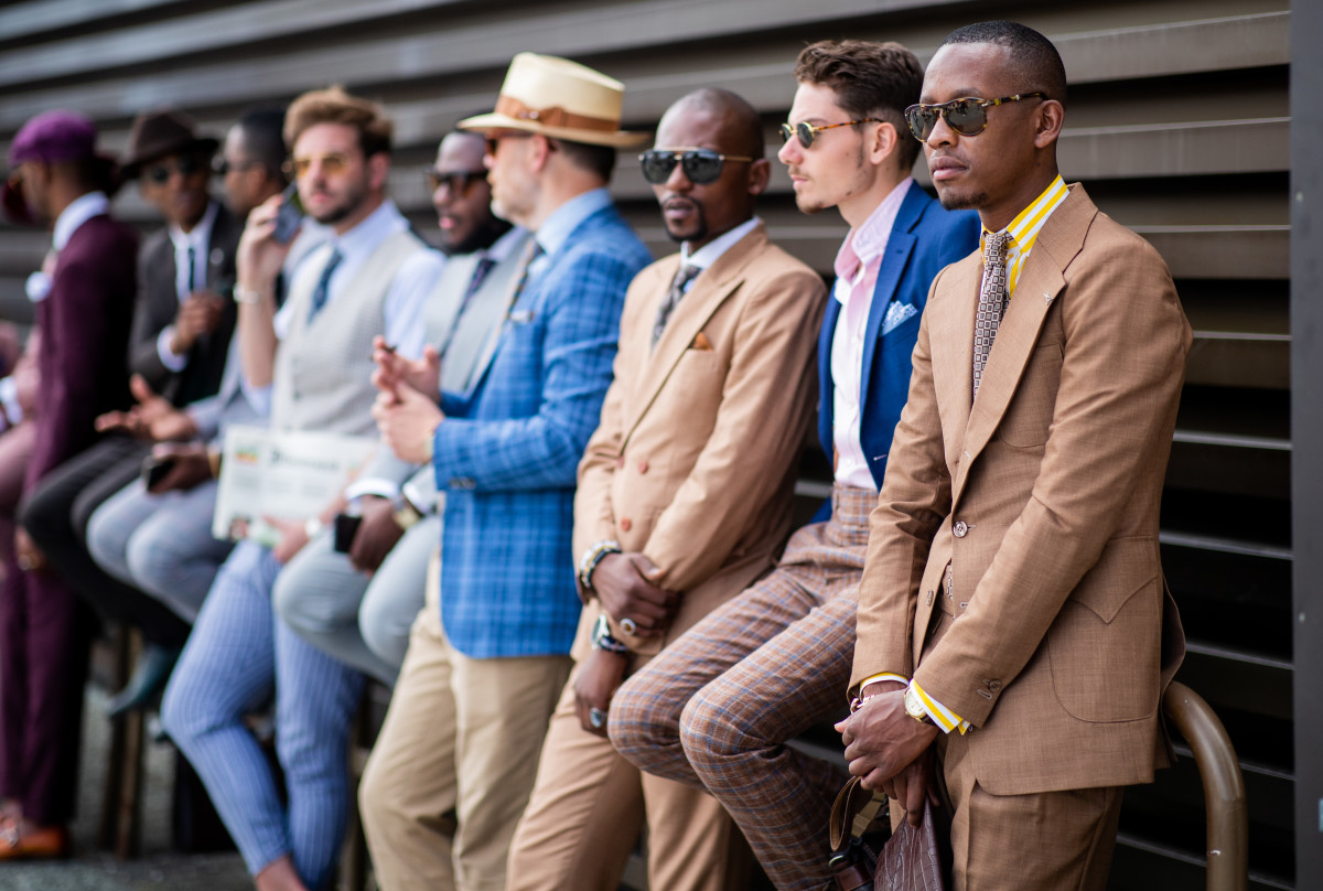 Showgoers at Pitti Uomo. Photo: Christian Vierig/Getty Images