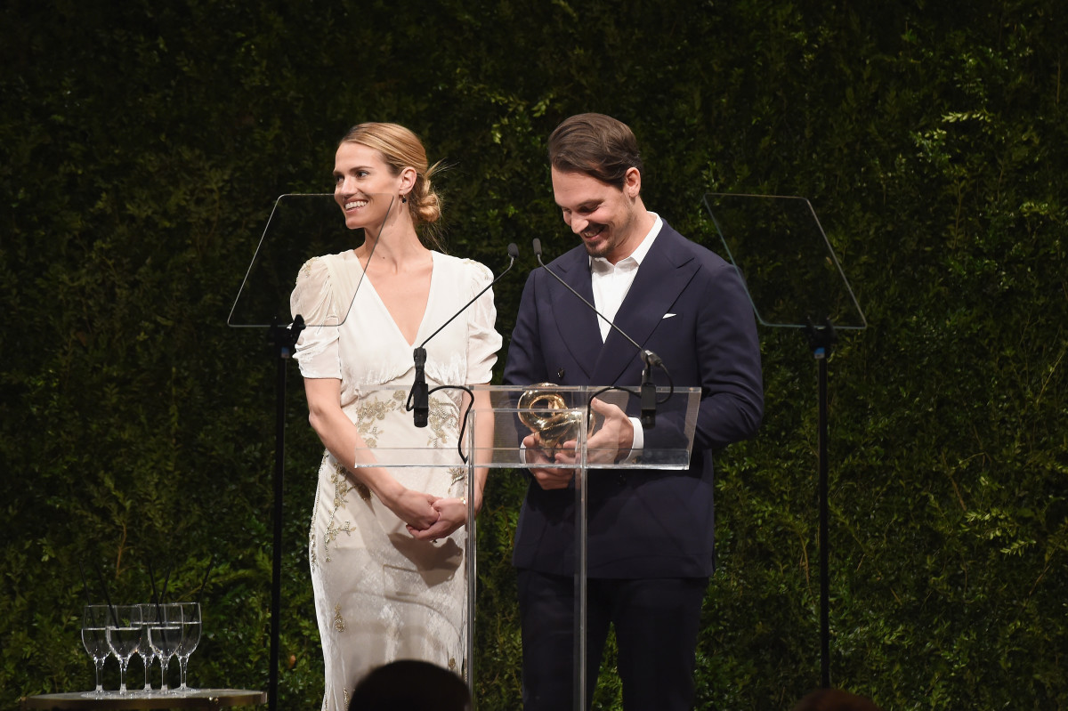 "Laura Vassar Brock and Kristopher Brock winning the 2016 CFDA/""Vogue"" Fashion Fund. Photo: Nicholas Hunt/Getty Images"