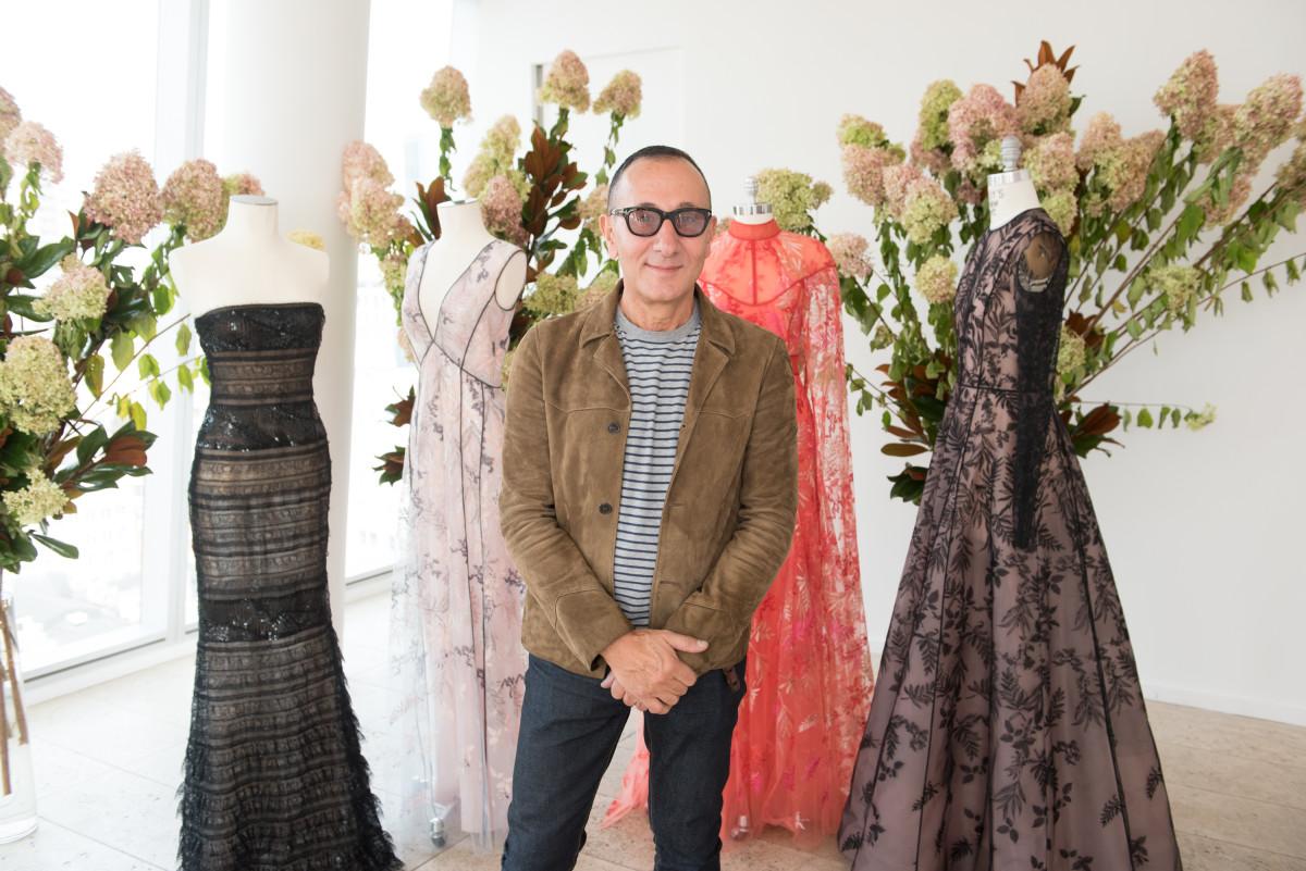 Designer Gilles Mendel poses at the Spring 2018 J. Mendel presentation during New York Fashion Week. Photo: Noam Galai/Getty Images