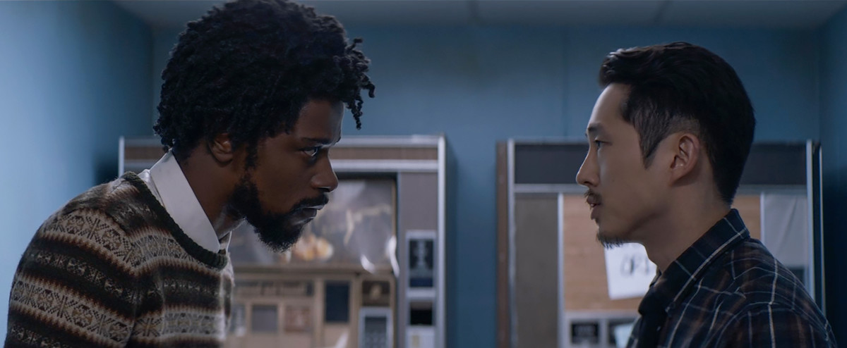 "Cassius ""Cash"" Green (Lakeith Stanfield) and Squeeze (Steven Yeun). Photo: Annapurna Pictures"