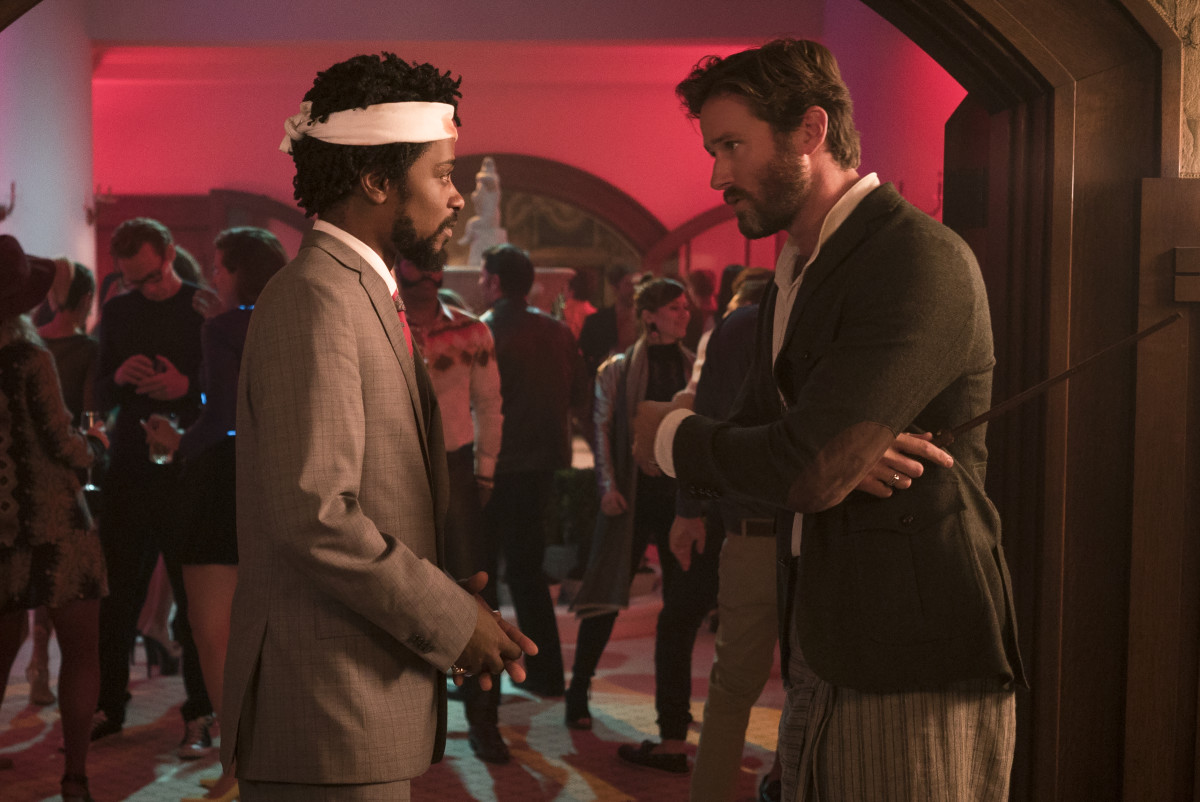 Cassius and Steve Lift (Armie Hammer) in a mélange of cultural appropriation. Photo: Peter Prato/Annapurna Pictures