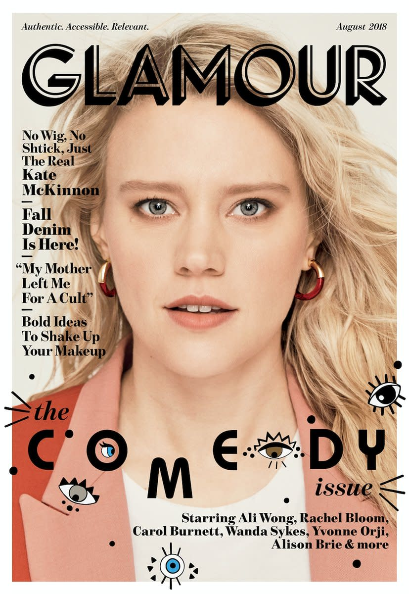 """Kate McKinnon on the August cover of """"Glamour."""" Photo: Miguel Reveriego"""