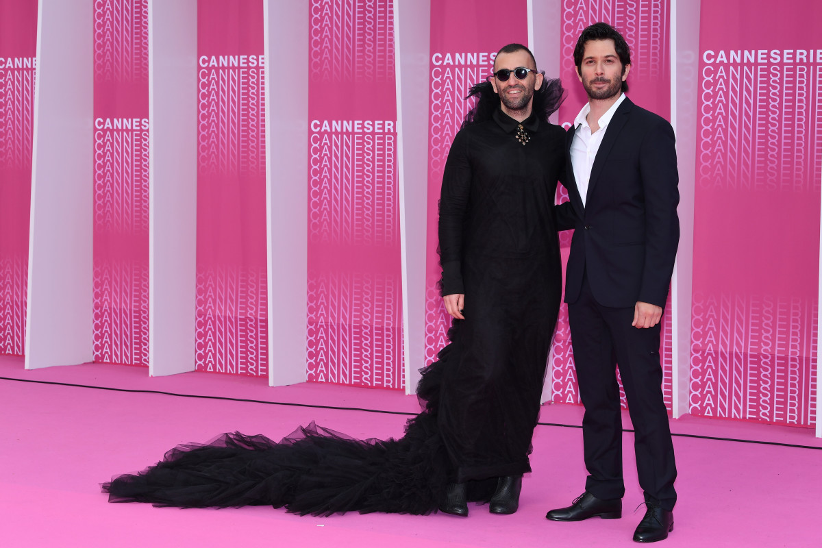 Tom Salama and Ran Danker at the 1st Cannes International Series Festival on April 10, 2018 in Cannes, France. Photo: Pascal Le Segretain/Getty Images