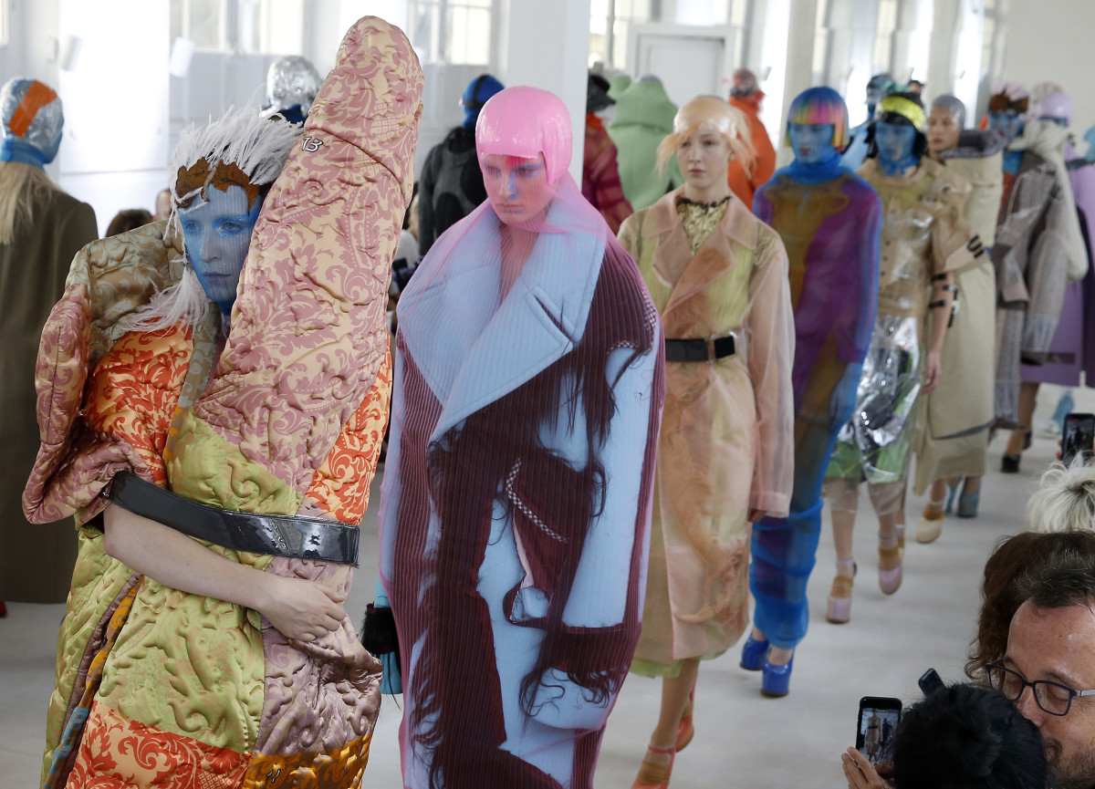The Maison Margiela Fall 2018 Artisanal runway. Photo: Thierry Chesnot/Getty Images