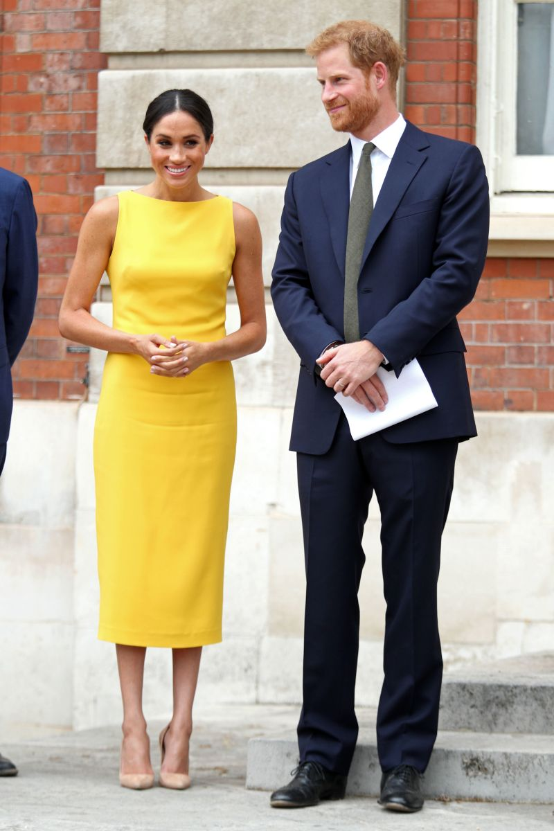 Prince Harry, Duke of Sussex, and Meghan, Duchess of Sussex arrive to attend a reception marking the culmination of the Commonwealth Secretariats Youth Leadership Workshop in London. Photo: Yui Mok/AFP/Getty Images