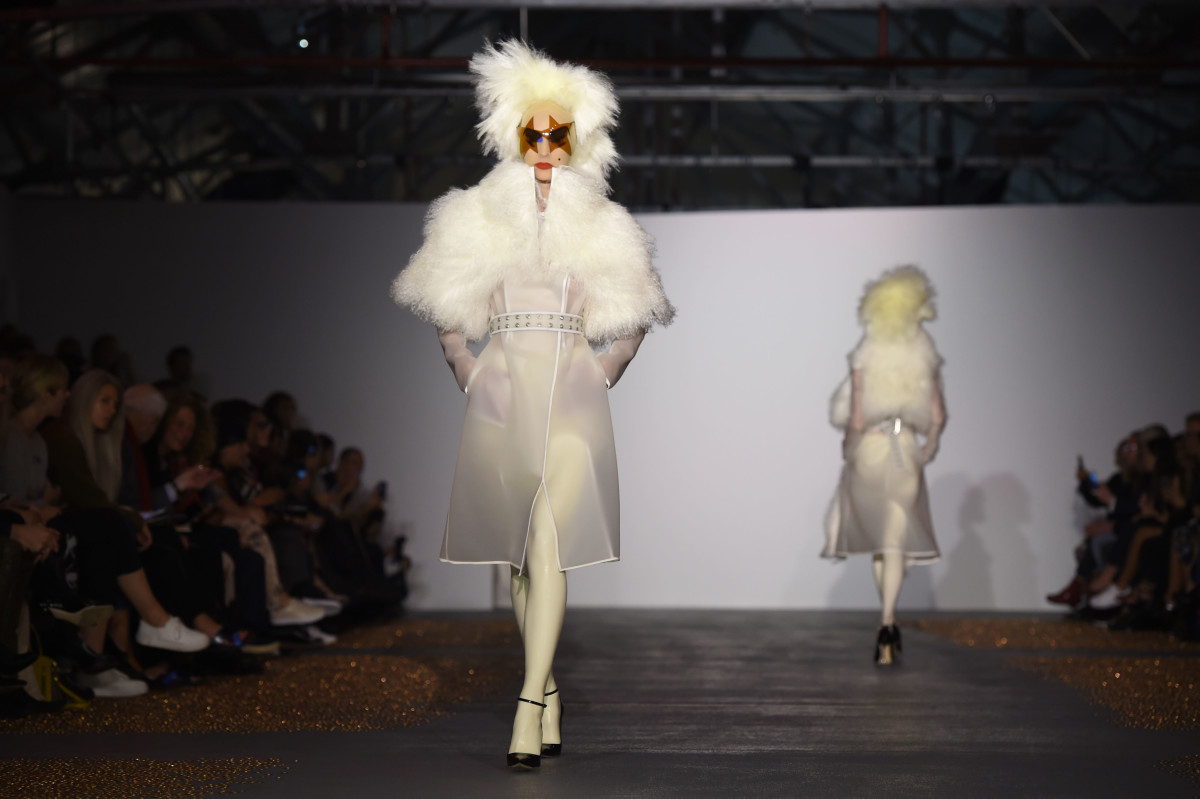 Models on the runway at a Gareth Pugh show. Photo: Stuart C. Wilson/Getty Images