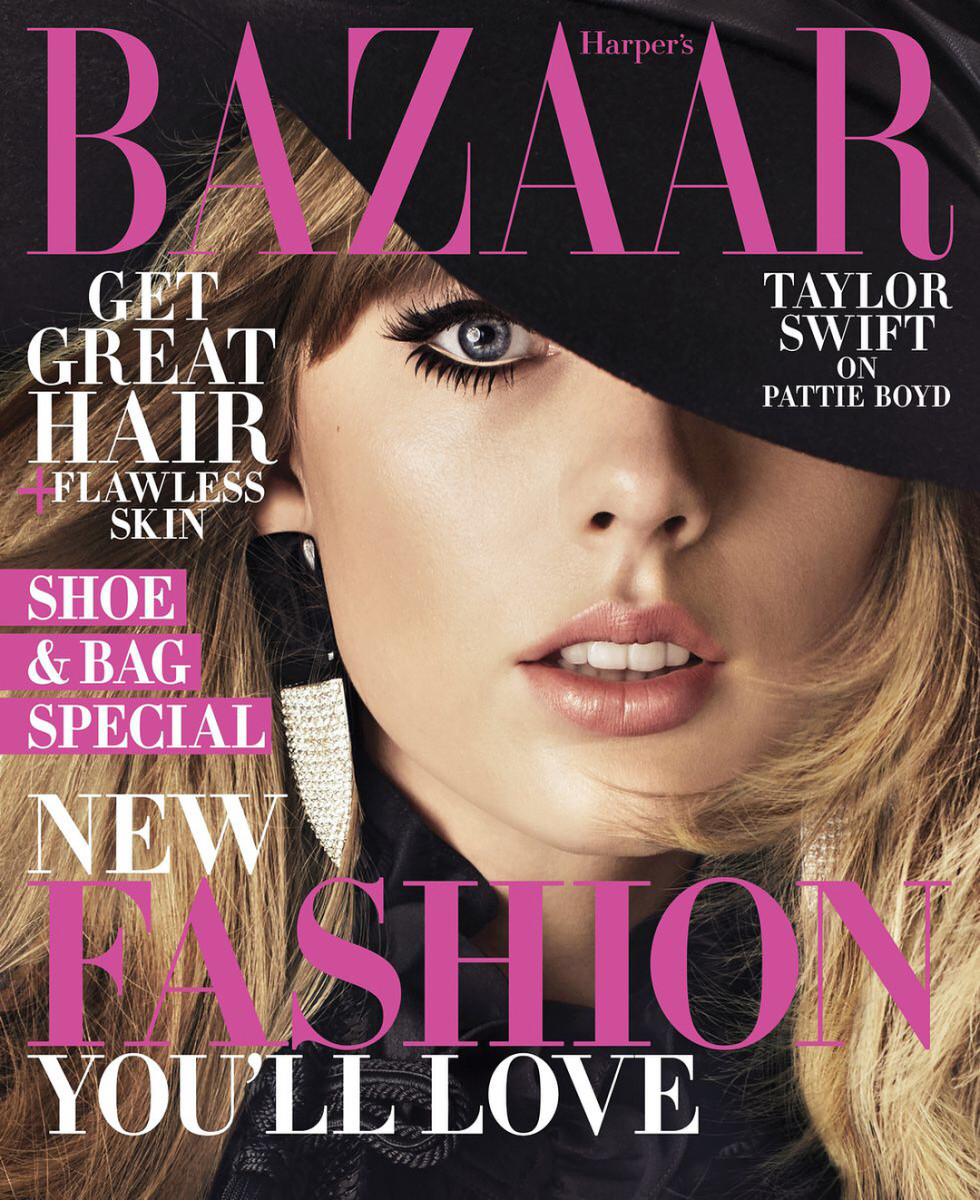 "Taylor Swift on the August cover of ""Harper's Bazaar."" Photo: Alexi Lubomirski"