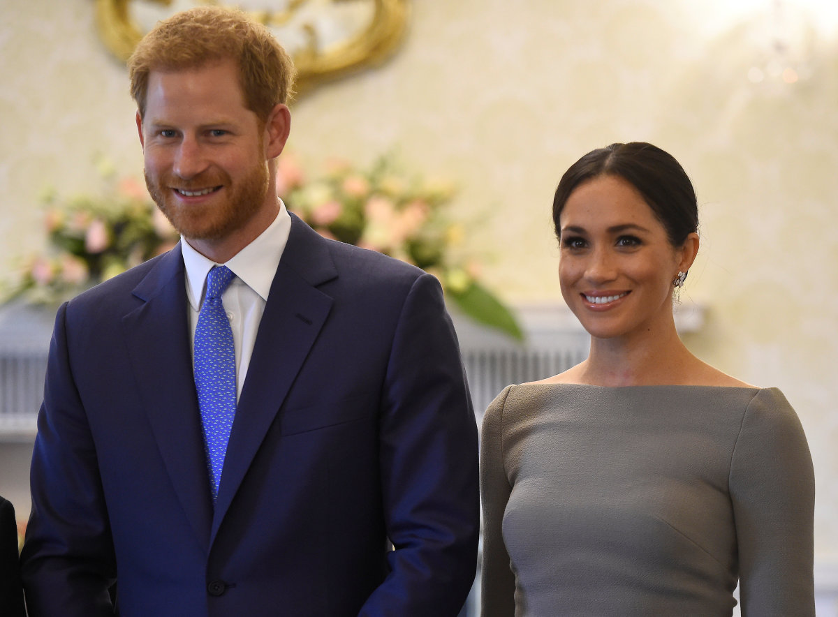 Prince Harry, Duke of Sussex and Meghan, Duchess of Sussex meet Ireland's President, Michael Higgins, at Aras an Uachtarain in Dublin, Ireland. Photo: Clodagh Kilcoyne/WPA Pool/Getty Images