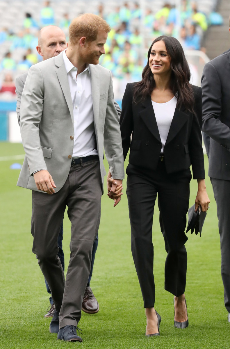 The Duke and Duchess of Sussex at Croke Park on Wednesday in Dublin. Photo: Chris Jackson/Pool/Getty Images