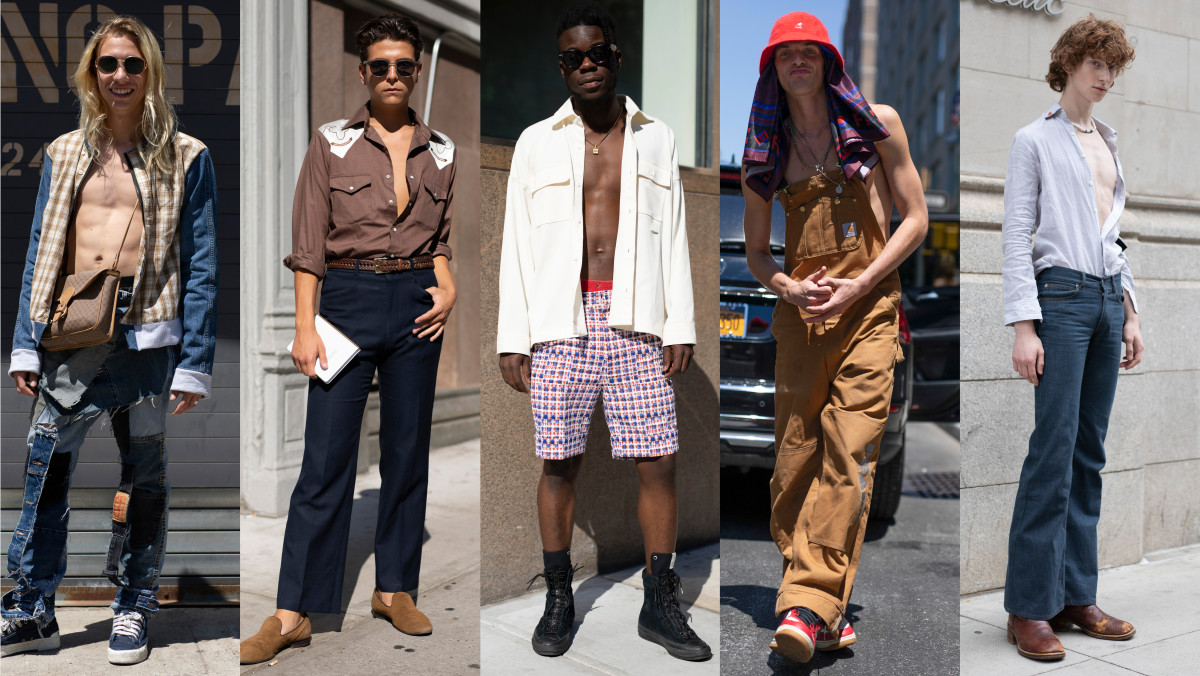 Shirts Were Optional Among The Street Style Crowd At New York