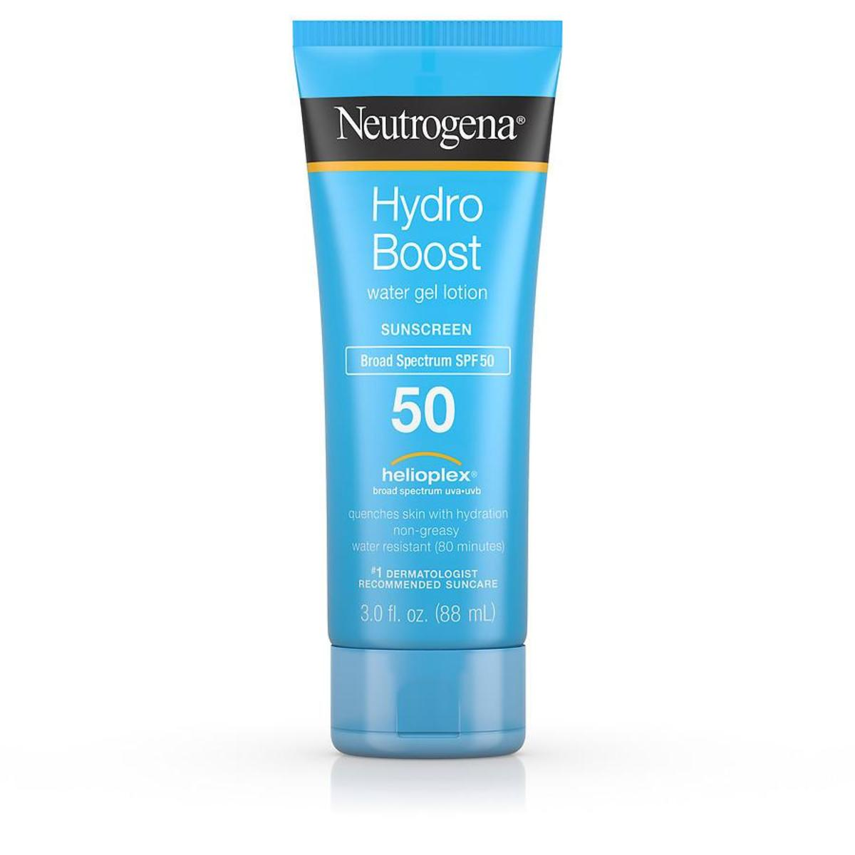 Neutrogena Hydro Boost Water Gel Lotion Sunscreen Broad-Spectrum SPF 50, $10.99, available here.