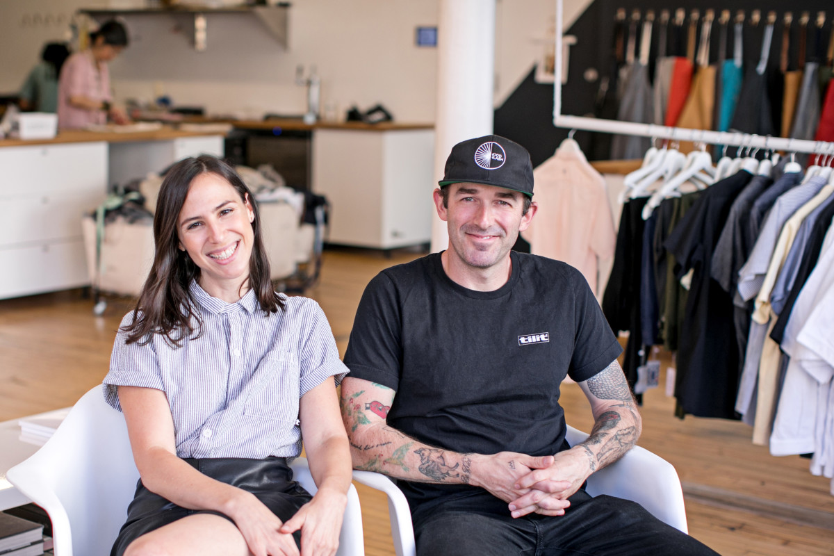 Tilit's Jenny Goodman and Alex McCrery. Photo: Heidi Geldhauser