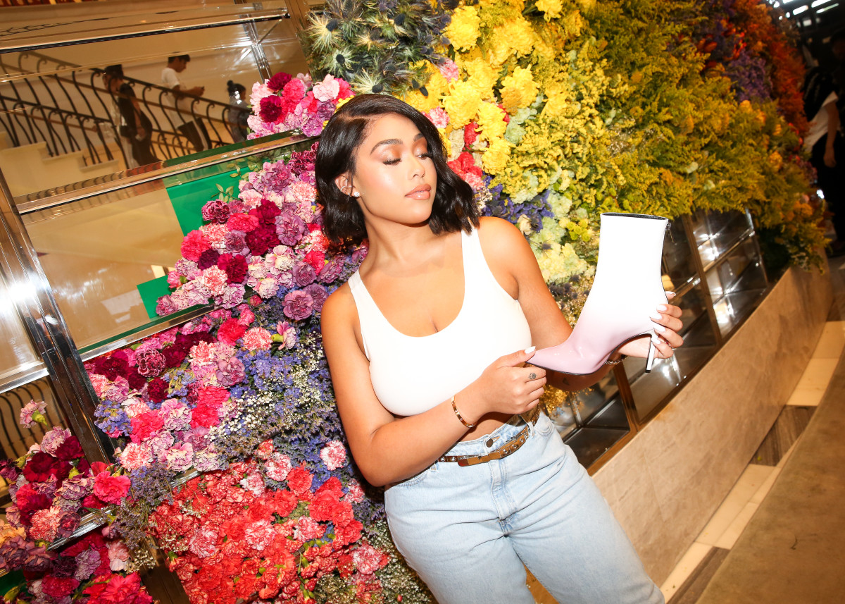 Jordyn Woods at The Drop LA at Barneys. Photo: Barneys