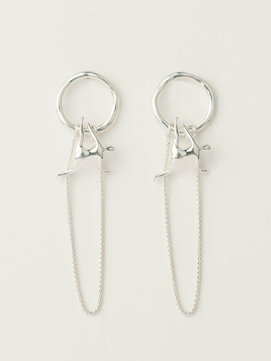 Position V earrings, $172, available here.