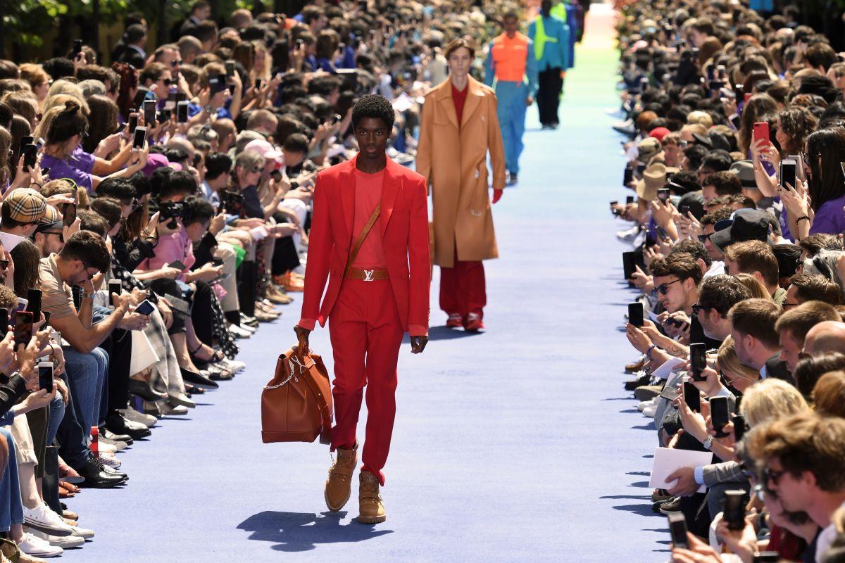 Louis Vuitton Men's Spring 2019 show. Photo: Bertrand Guay/AFP/Getty Images