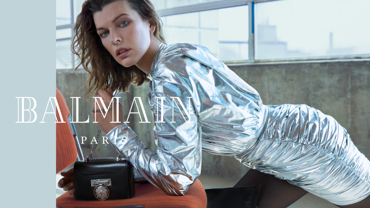 Milla Jovovich in Balmain's Fall 2018 campaign. Photo: An Le/Balmain