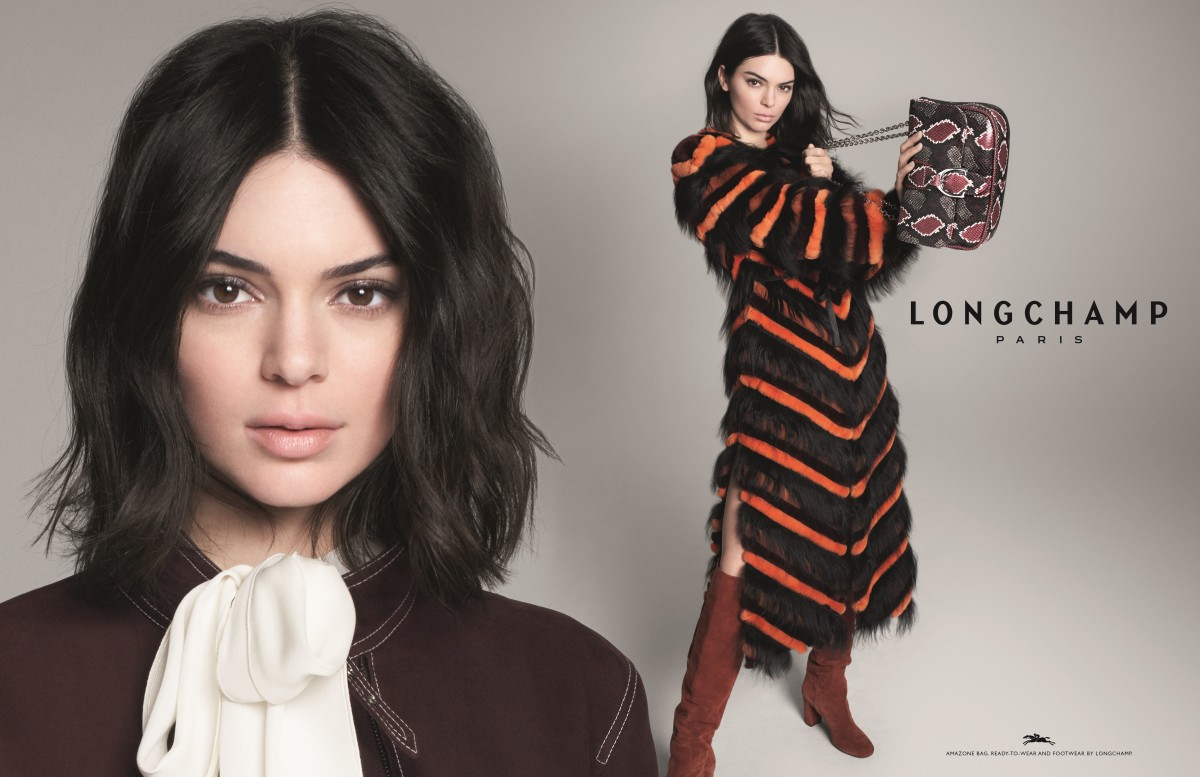 Kendall Jenner for the Longchamp Fall 2018 campaign. Photo: David Sims