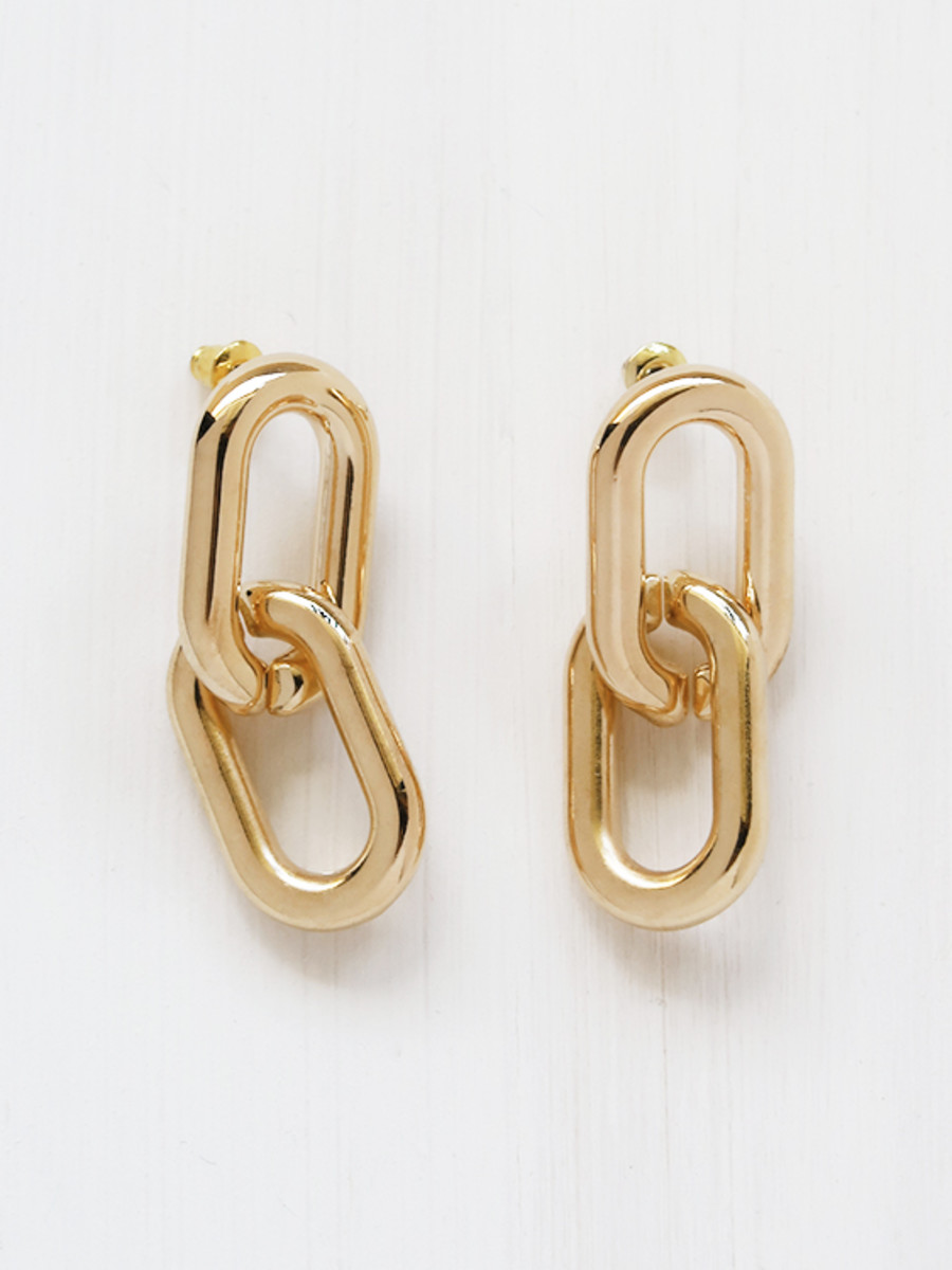 Common Muse Greta Chain Earrings in Gold, $31.33, available here.