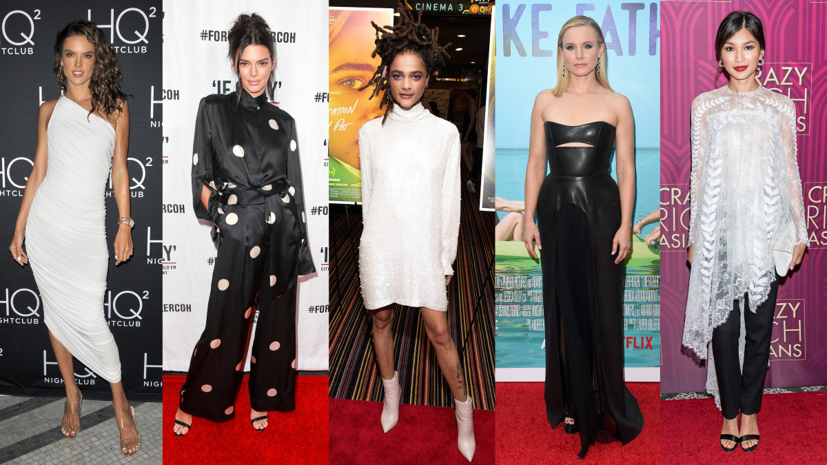 Alessandra Ambrosio, Kendall Jenner, Sasha Lane, Kristen Bell and Gemma Chan. Photos: Getty Images