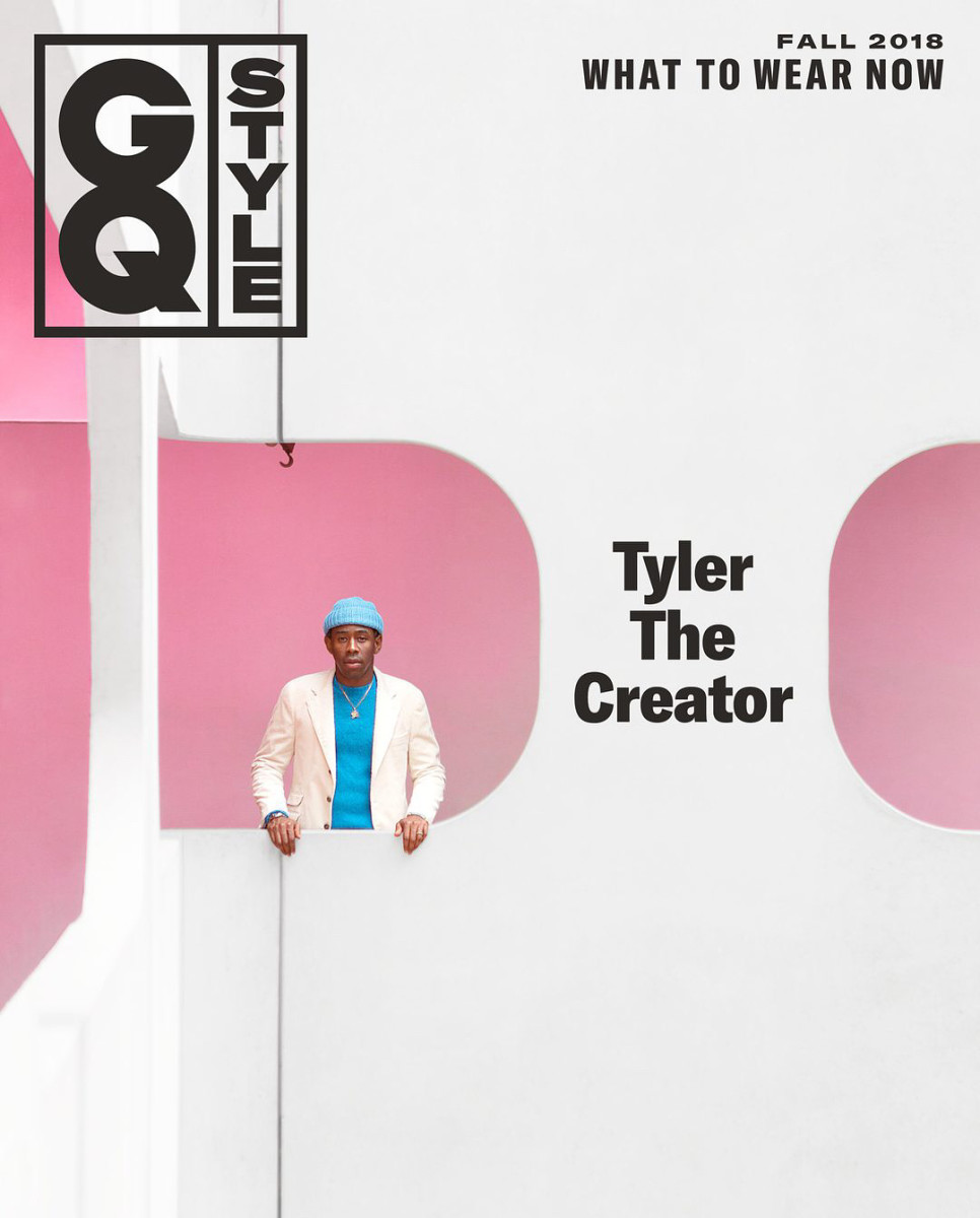 "Tyler, the Creator on the fall 2018 cover of ""GQ Style."" Photo: Matthieu Venot"