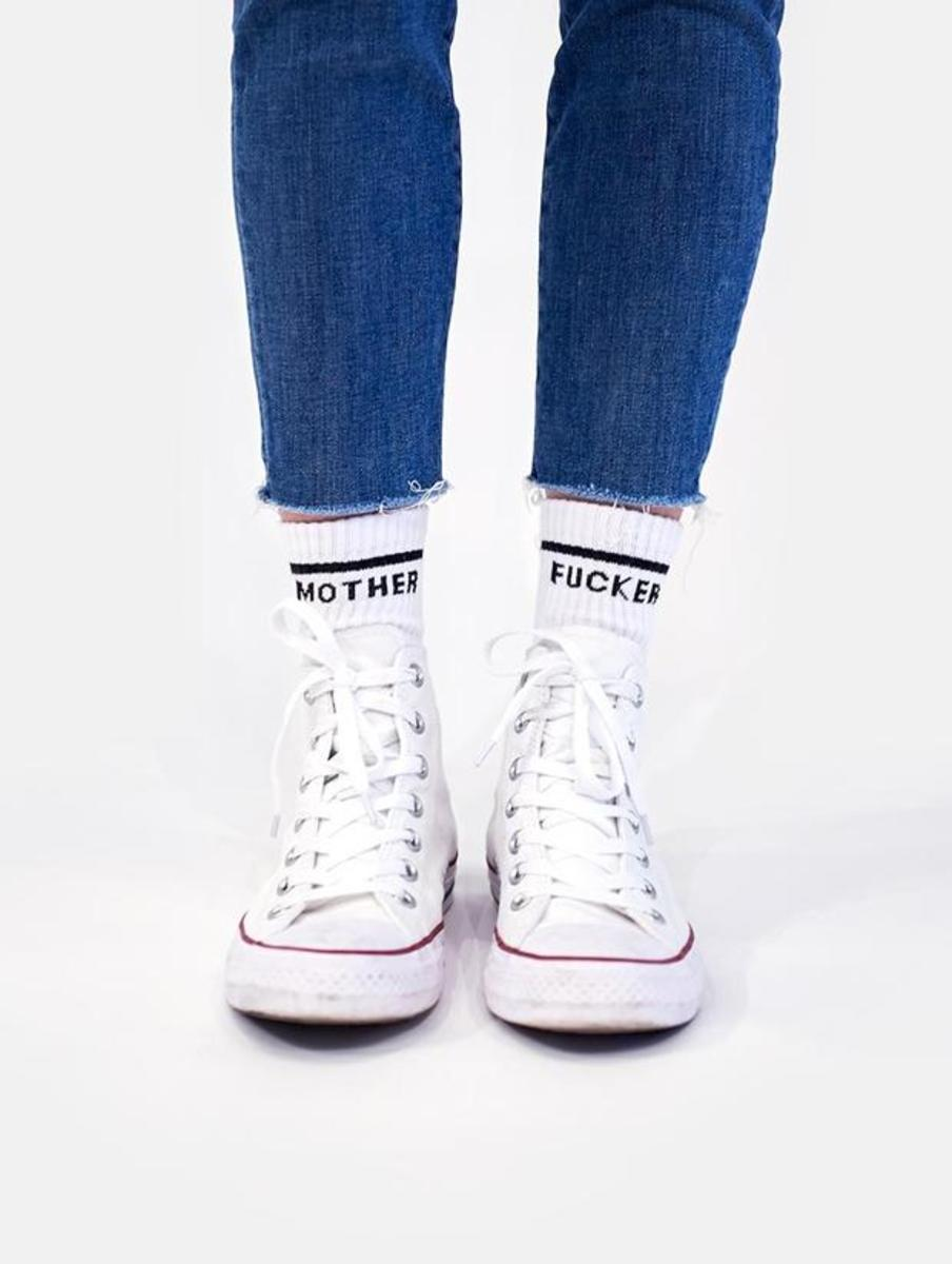 Mother Matched Women's Socks Mother F@cker, $40 for 2-pack, available here.