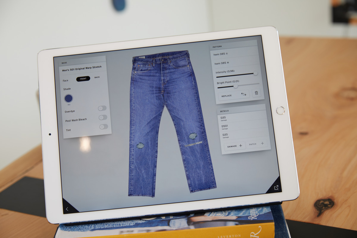 The Ipad app. Photo: Courtesy of Levi's
