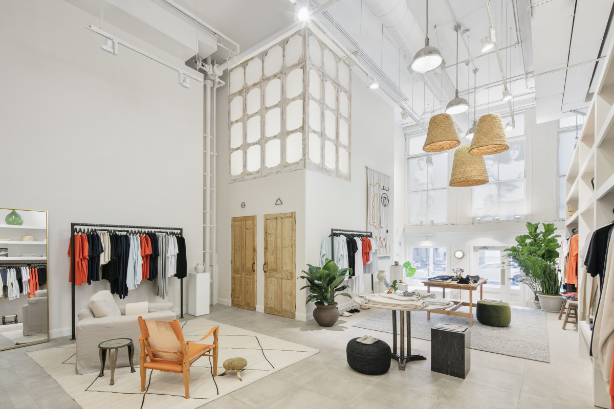 Inside Kotn's brand-new Manhattan store. Photo: Will Ellis/Kotn