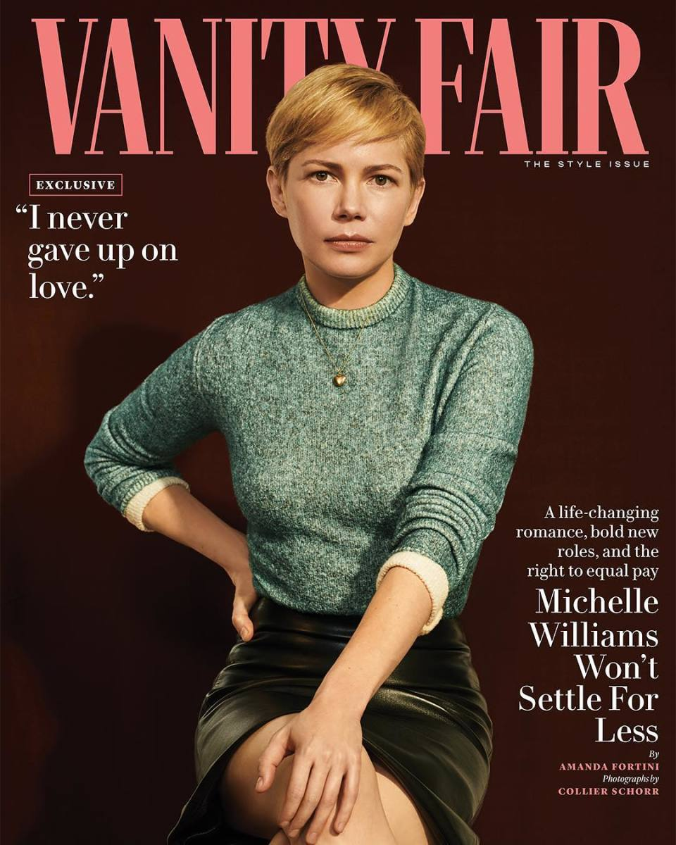 "Michelle Williams on the September 2018 cover of ""Vanity Fair."" Photo: Collier Schorr"