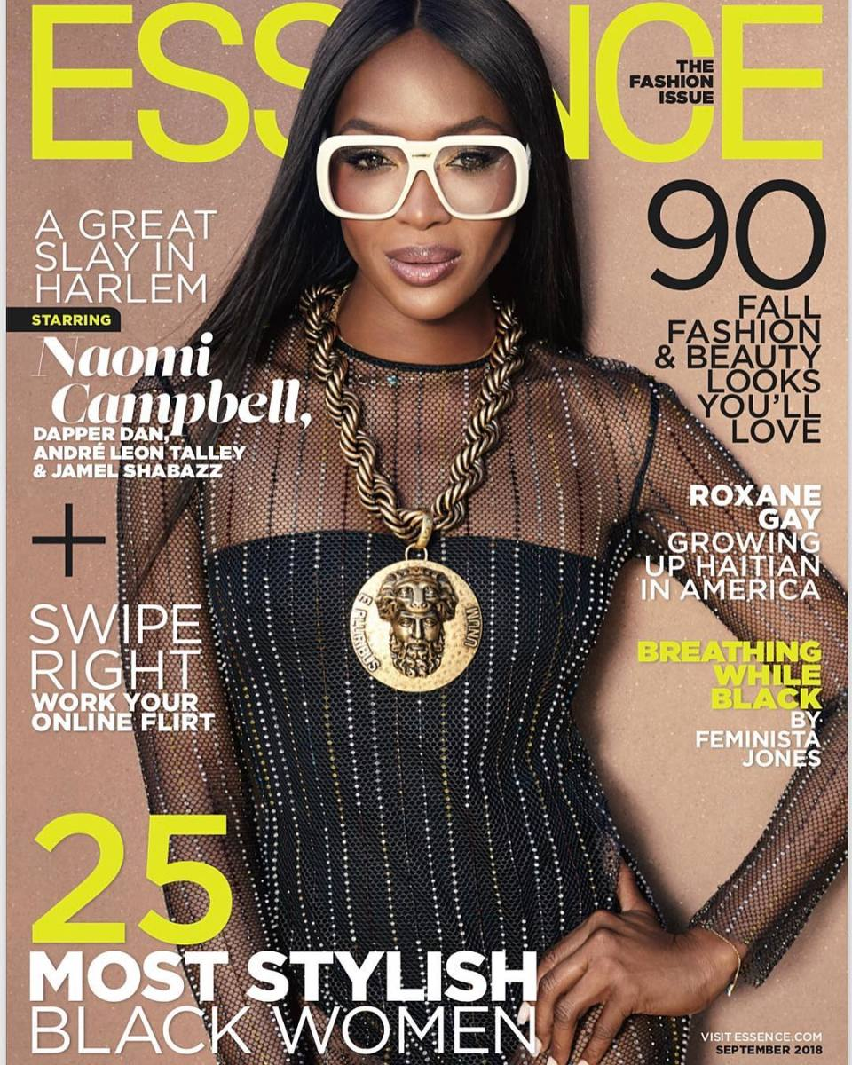 "Naomi Campbell on the September 2018 cover of ""Essence."" Photo: Jamel Shabazz"
