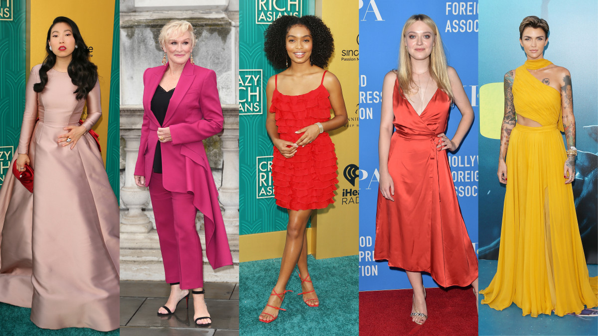 Awkwafina, Glenn Close, Yara Shahidi, Dakota Fanning and Ruby Rose. Photos: Getty Images